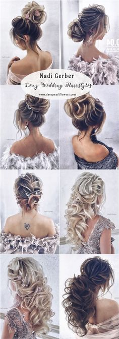 Long Wedding Hairstyles and Updos for Bride