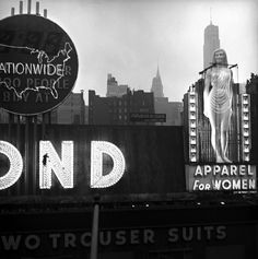 times square. new york, 1950 | Photographer: Eve Arnold