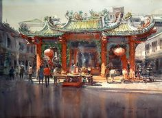 "Direk Kingnok ""A Chinese shrine in Yaowarat 3"""