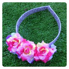 DENISE REVERSIBLE FLORAL HEADBAND by Sweet As Candy Vintage