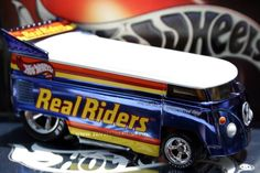 2003 Hot Wheels RLC Real Riders Series 3 Customized Volkswagen Drag Bus blue