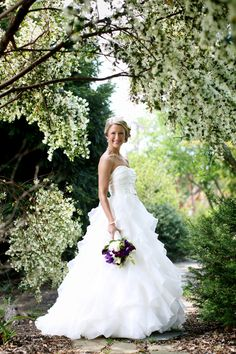 really pretty bridal portrait....surrounded by greenery
