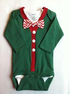 Christmas in July. Baby Boy Christmas Cardigan Onesie Set. Christmas Bodysuit. on Etsy, $45.58 AUD