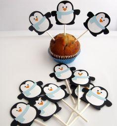 piques pingouin pour une fête d'anniversaire