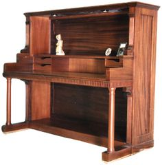 piano to desk. As heartbreaking as it would be for me to destroy a piano. Vieux Pianos, Furniture Making, Diy Furniture, Furniture Plans, Piano Desk, Piano Man, Piano Parts, Old Pianos, Upright Piano