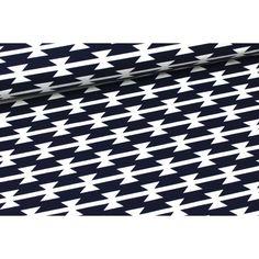 Jersey - Tomahawk Stripe - Art Gallery -Dunkelblau