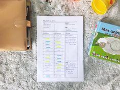 J'ai créé un planning journalier et familial sur-mesure : au format A4 - pratique - facile à imprimer - en noir et blanc. A télécharger gratuitement