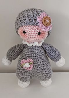 Cuddly Baby Crochet Pattern By Lilleliis – Diy Crafts – maallure – Amigurumi Free Pattern İdeas. Crochet Dolls Free Patterns, Crochet Doll Pattern, Amigurumi Patterns, Amigurumi Doll, Doll Patterns, Amigurumi Minta, Diy Crafts Crochet, Crochet Projects, Crochet Animals