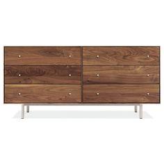 Room & Board - Hudson 60w 20d 28h Six-Drawer Dresser with Steel Base