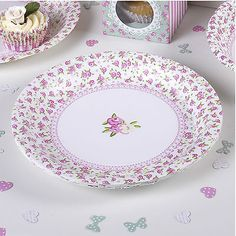 #Luxury #tableware #plates shabby chic vintage style for afternoon tea or hen par,  View more on the LINK: http://www.zeppy.io/product/gb/2/111665117269/