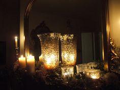 mercury glass & candles