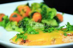 Terapia do Tacho: Salmão na frigideira com molho de manga (Pan seared salmon with mango sauce)