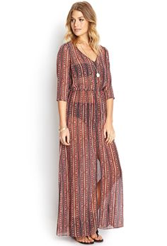 Retro Wonder Maxi Dress | FOREVER21 - If this weren't 100% see through.