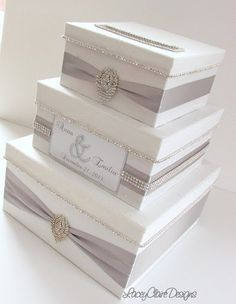 Wedding Card Box Bling Card Box Money Holder by LaceyClaireDesigns, $183.00