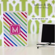 #latticeandivy #tailorpattern #personalizedgifts #personalizedaccessories #miniipad #ipadcase