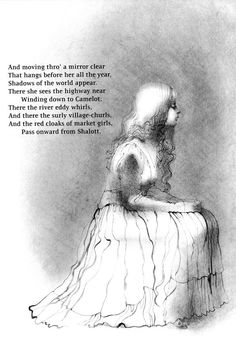 Charles Keeping's Illustrations for 'The Lady of Shalott.'