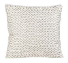 Bombay & Co, Inc.::HOME DÉCOR::Decorative Pillows::Ivory Diamond Embroidered Pillow Cover