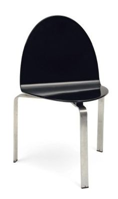 Jørgen Høj; Lacquered Molded Plywood and Aluminum Prototype Chair for Niels Vitsø, 1960s.