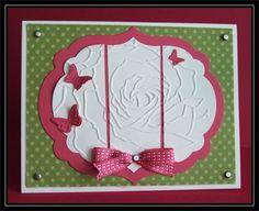 Embossed Rose Framelit in 3 - QFTD119 by TrishG - Cards and Paper Crafts at Splitcoaststampers