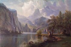 IN THE MOUNTAINS, BY ALBERT BIERSTADT