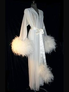 I would so wear this!  Faire Frou Frou Ostrich Feather Robe