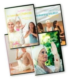My Yoga DVDs for learning.