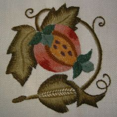 Pomegranate Crewel Embroidery