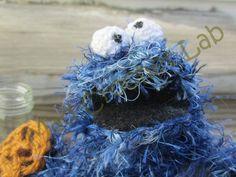 cookie monster finger puppet