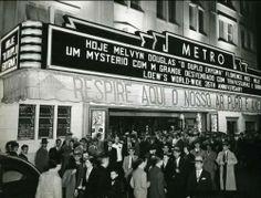 Década de 40 - Cine Metro em noite de inauguração do sistema de ar condicionado.