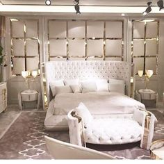 Have a look at this intersting classic bedroom furniture - what an original design and style Modern Luxury Bedroom, Luxury Bedroom Furniture, Luxury Bedroom Design, Master Bedroom Design, Contemporary Bedroom, Luxurious Bedrooms, Home Decor Bedroom, Interior Design, Modern Furniture