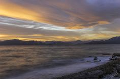 Red sky by Mengqiu Chen on Natural World, Chen, Wildlife, Sky, Mountains, Beach, Water, Travel, Outdoor