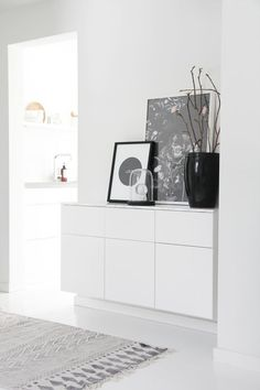besta ikea wall mount use a besta cabinet as a sleek console table by mounting it on the wall. Black Bedroom Furniture Sets. Home Design Ideas