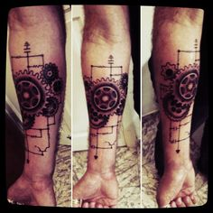 Steampunk tattoo - My right arm tattoo