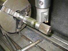 Axle Spline Cutter by dodgedifferent2 -- Homemade axle spline cutter designed to facilitate precision shortening of axle shafts. http://www.homemadetools.net/homemade-axle-spline-cutter