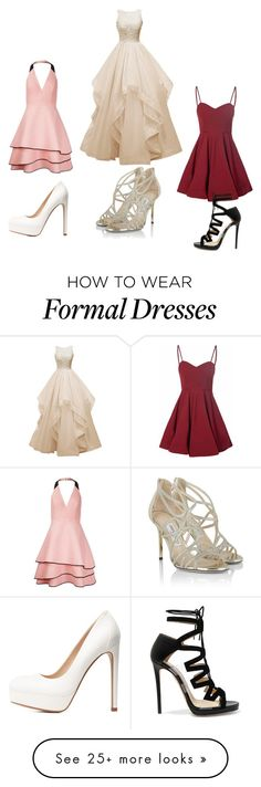 """""""Paige Formal"""" by tia-unicornio on Polyvore featuring Marc by Marc Jacobs, Glamorous, Jimmy Choo and Charlotte Russe"""