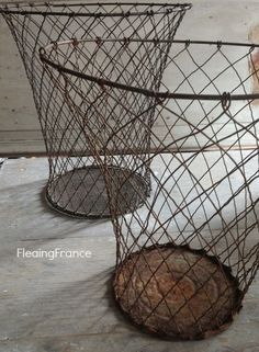 FleaingFrance......vintage French wire baskets