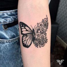 Borboleta – Top Of The World Dope Tattoos, Mini Tattoos, Wrist Tattoos, Pretty Tattoos, Body Art Tattoos, Small Tattoos, Sleeve Tattoos, Tatoos, Unique Tattoos