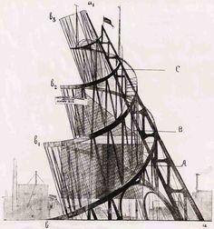 Татлин, памятник 3 интернационалу, 1920