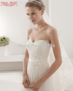 b712e96bf 2015 Hot Sale Tulle Wedding Dress White Lace Beading Sweetheart Floor  Length Bride Dress With Flowers Free Shipping BC30-in Wedding Dresses from  Weddings ...