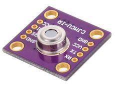 Infrarood thermometer MLX90614 met een I2C interface. Maakt gebruik van de MELEXIS