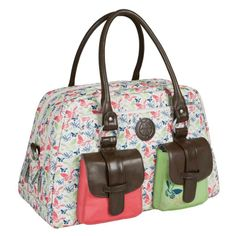 Lassig Vintage Metro Nappy Bag - Butterfly Spring available at The Baby Closet Australia Girl Diaper Bag, Diaper Bag Backpack, Nappy Bags, X 23, Types Of Purses, Wholesale Bags, Baby Kind, Bago, Online Bags