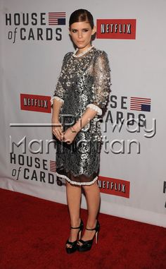 Kate Mara attending the Netflix House Of Cards New York premiere at Alice Tully Hall in New York City - Jan 30, 2013 - Photo: Runway Manhattan/Joe Stevens/Retna