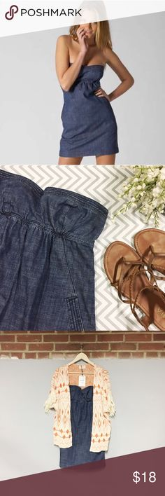 🎉 AE Denim Strapless Dress Show off your love for denim in this strapless dress! Look perfect at the cookout or dinner & drinks as the structured cups bring this look from day to night!  Offers are welcome! American Eagle Outfitters Dresses Strapless