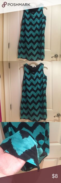 Gorgeous Cato Shift Dress size L❤️ Gently used but in good condition! Cato turquoise/seafoam colored shift dress size large. Built in underneath liner. Very thin material and lightweight! Couldn't locate material tag but I would assume it was a polyester blend. Cato Dresses