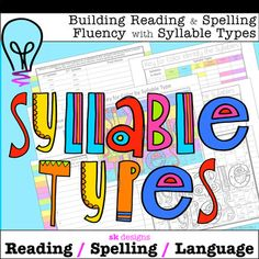 Build Reading, Spelling Fluency w Syllable Types 4 ready to go activities - Real Time - Diet, Exercise, Fitness, Finance You for Healthy articles ideas Reading Resources, School Resources, Classroom Resources, 5th Grade Classroom, Learning Activities, Teaching Ideas, Syllable, Teacher Tools, Elementary Teacher