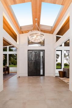 Family Friendly Mid-Century new construction built from the ground up. Home Building Design, Building A House, House Design, Modern Ranch, Modern Bungalow, Interior Design Gallery, Interior Ideas, Patio Deck Designs, Bungalow Renovation