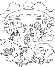 coloring colouring faerieland petpet petpets slorg polarchuck chezzoom snorkle faerie book books read reading slime clouds