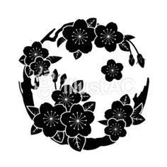 Japanese Family Crest, Wood Transfer, Japanese Landscape, Doodle Patterns, Round Design, Indian Summer, Black Paper, Aesthetic Backgrounds, Doodle Art
