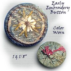 Image Copyright RC Larner ~ Antique Embroidery Button ~ R C Larner Buttons at eBay & Etsy          http://stores.ebay.com/RC-LARNER-BUTTONS