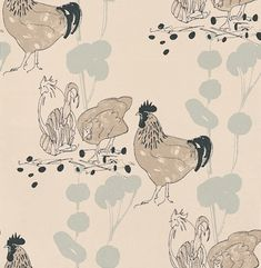 Chickens wallpaper by Belynda Sharples